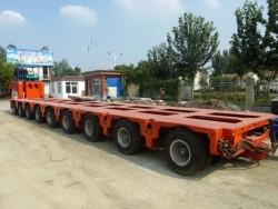 hydraulic Low Bed Trailer detachable gooseneck lowboy semi trailer 100 ton