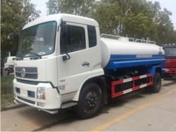 10000 liter Dongfeng Tianjin 4x2 water carrier tanker truck