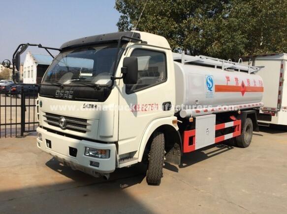 dongfeng 8000 liters carbon steel fuel tanker truck