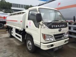 3000 liters Foton 4x2 right hand drive fuel tank truck