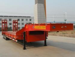 120MT Semi Lowbed Car Trailer For Cargo Transportation