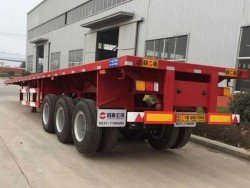 hot-selling flatbed load 40ft container semi trailer