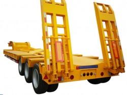 60ton 3 axle container chassis semi trailer