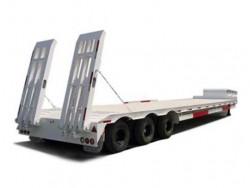 heavy duty tri-axle low bed trailer