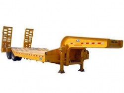 Low barycenter transport light machine 35 tons lowbed trailer