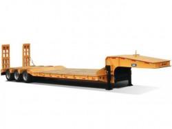 Heavy duty 50 tons tri-axle low bed truck trailer