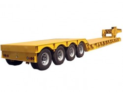 Heavy duty 4 axles concave beam lowbed trailer for excavator