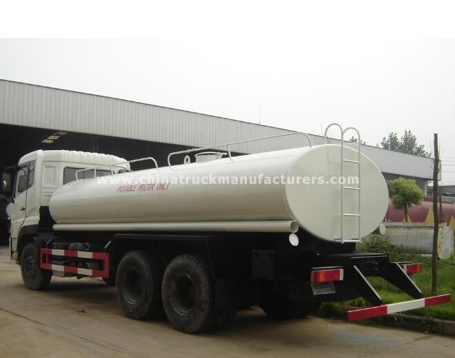 China 6x4 5800 gallon water tank truck