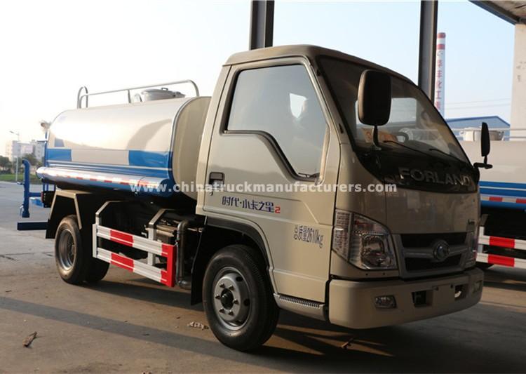 FOTON 4x2 1200 gallon water tank truck