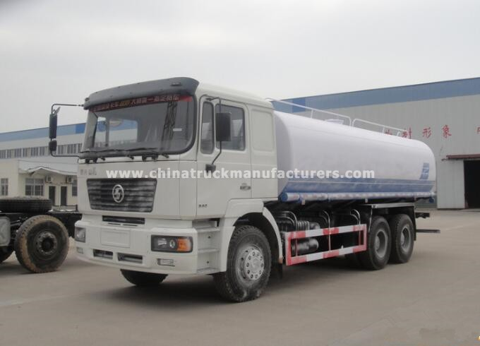 SHACMAN 5200 gallon stainless steel water tank truck