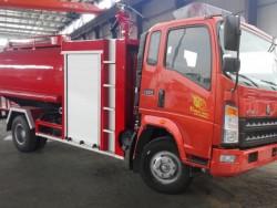 HOWO 4X2 6 ton fire water truck