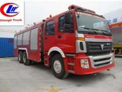 Foton 6x4 18 ton water tank fire fighting truck