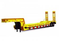 heavy duty 100 tons low bed semi trailer