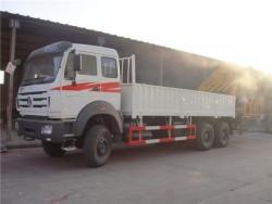 Beiben 6x4 16 ton knuckle boom crane truck
