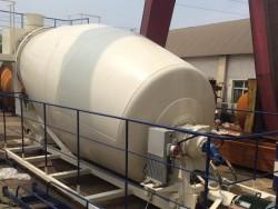 10m³ concrete mixer drum rollers