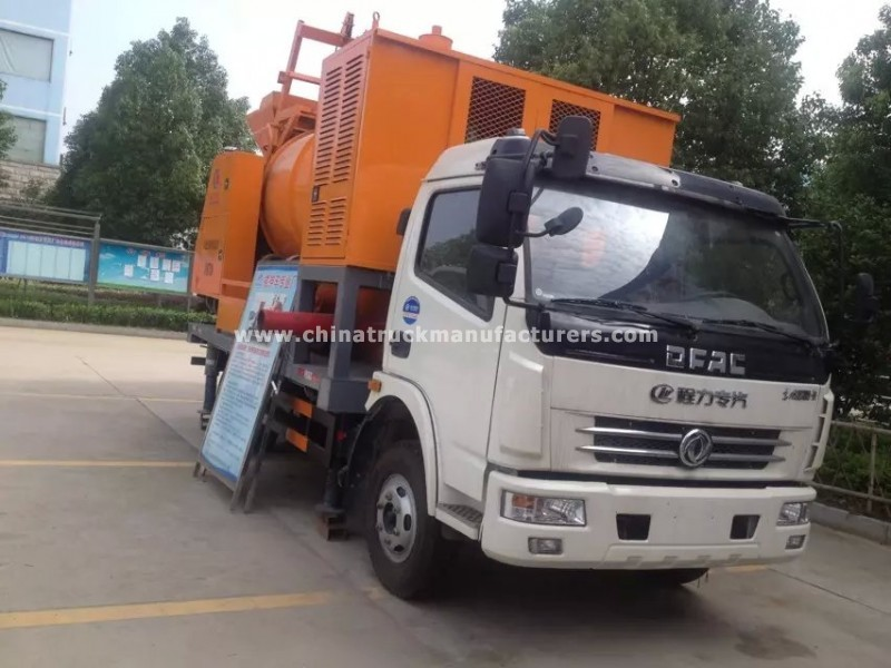 30m dongfeng 4x2 small truck mounted concrete pump