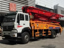 SINOTRUK STEYR 4X2 35 meter concrete pump truck