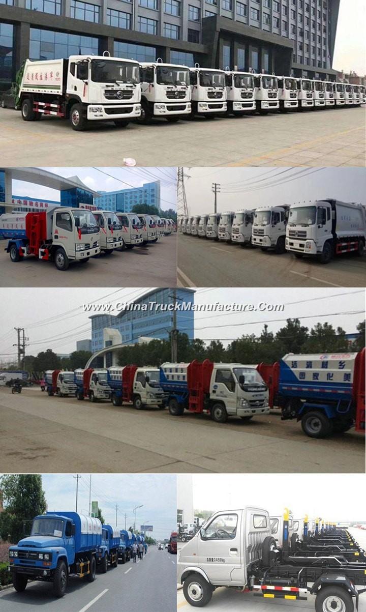 China 6 wheel 8 ton Garbage Compactor Truck