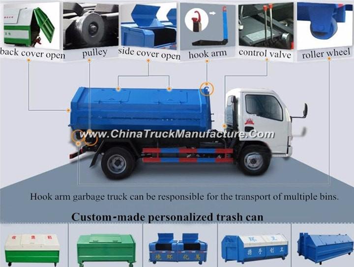 China 6x4 16 ton bin lifter garbage truck