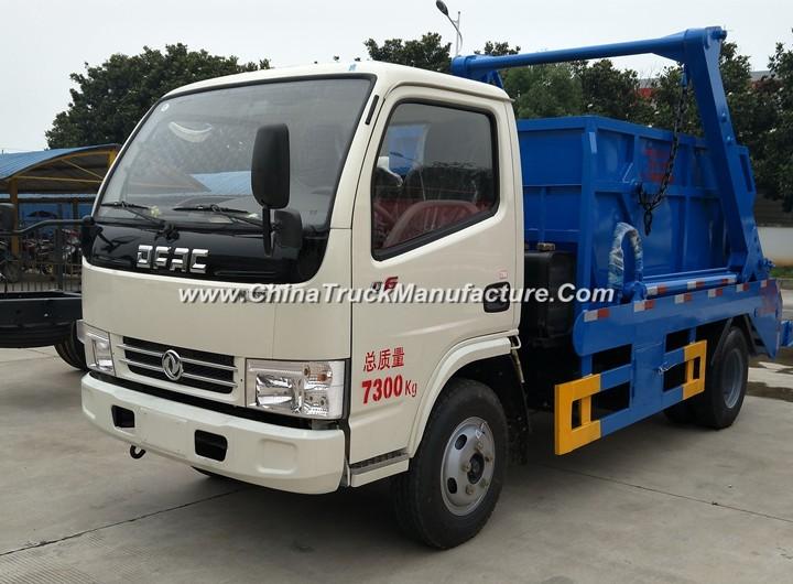 China 4 wheel 4 ton Swing Arm Garbage Truck