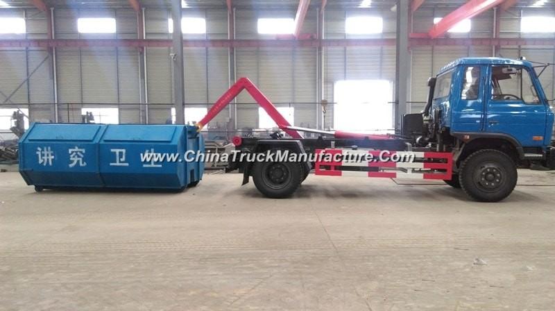 China 6 wheel 12 ton bin lifter garbage truck