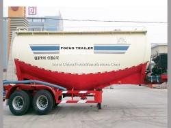 2 Axles Bulk Cement Powder Tank Trailer Cement Truck