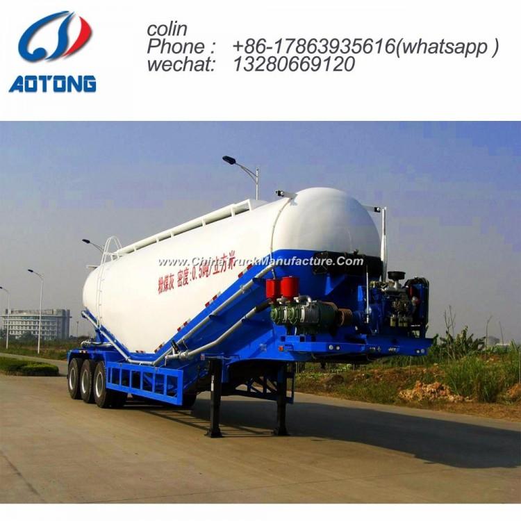 60cbm Bulk Cement/Powder Material Transport Tanker Truck Semi Trailer