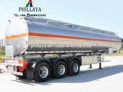Fuel Diesel Gasoline Transport Storage Truck Semi Trailer Stainless Steel Storage Tank