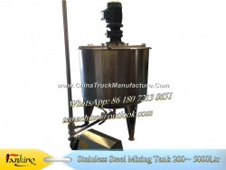 500L Syrup Mixing Tank 40~200rpm Variable Speed Mixing Tank