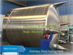 5000L (single wall) Stainless Steel Mixing Tank