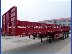 3 Axles Flatbed Container Utility Cargo Truck Semi Trailer for Transport