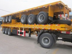 3 Axle Container Transportation Flatbed Semi Trailers for Sale