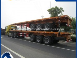 Cimc 3 Axles 70ton Lowbed Semi Trailer for Transport
