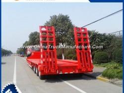 Sinotruk 3 Axle 17.5m Low Bed Semi Trailer