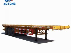 Special Vehicle Semi-Trailer 12twist Locks 2/3axle 40FT Flatbed Container Trailers