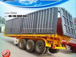 Dumping Flatbed Container Semi Trailer for Sale