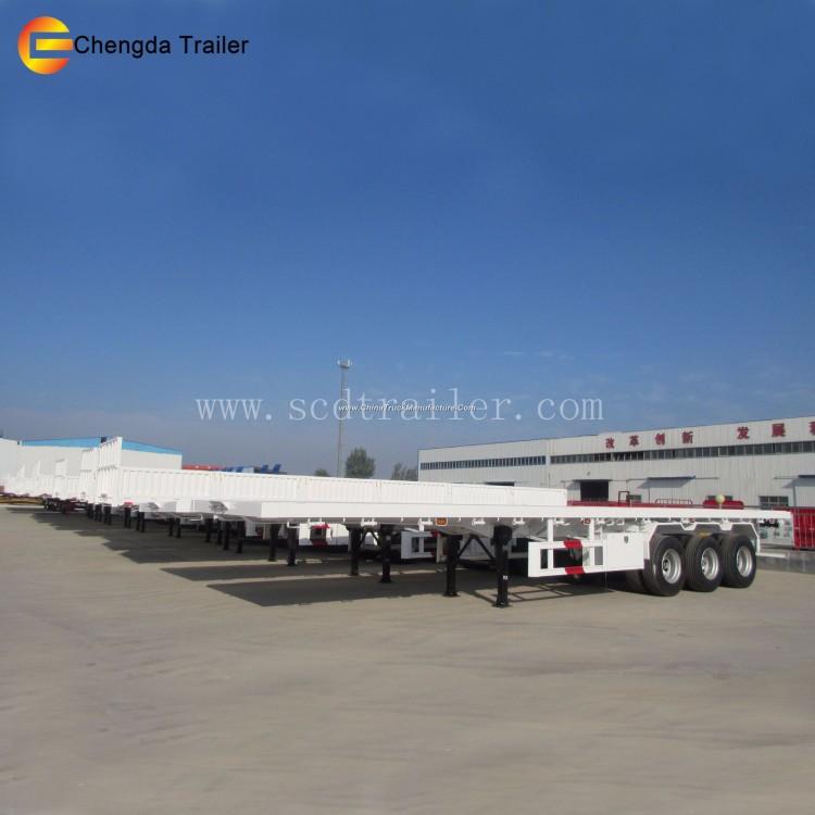 3 Axle Flatbed 40 Ton 40ft Container Semi-Trailer
