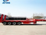 Hot Sale 4axle Low Bed Truck Trailer with Rear Ladder