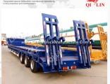50 Ton Tri-Axle Extendable Low Bed Semi Truck Trailer