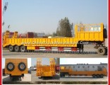 Tri-Axle Side Cover and Rear Ramp Enquipped Low Bed Truck Trailer