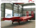 Widely Used 12 Wheels 40FT Flatbed Semi Truck Trailer