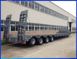 4axles100ton Heavy Excavator Equipment Transport Lowbed Lowloader Semi Truck Trailer