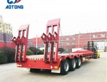 3 Axles 80 Tons 2 Lines Low Bed/Lowboy Truck Trailer