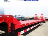 Tri-Axles 30t-60t Heavy Duty Loading Low Bed Truck Semi Trailer