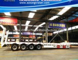 4 Axis Low Bed Semi Trailer, Low Loader Truck Trailer