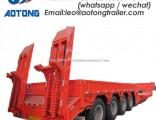 2-Axle 40ton Excavator Transportation Low Bed Trailer/Lowboy Truck Trailer