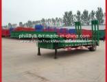 Phillaya Made 1-2 Axles 20-40 Tons Lowbed Truck Low Bed Semi Trailer Semitrailer
