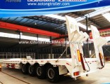 100 Tons 4 Axles Low Bed Semi Truck Trailer
