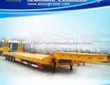 Heavy Machine 4 Axles Low Bed Semi Truck Trailer