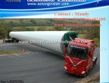 Extendable Low Bed Semi Trailer/Wind Blade Transport Truck Trailer
